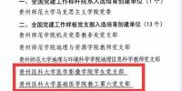 喜报——我校两个党支部入选第二批全国党建工作样板支部培育创建单位 - 贵阳医学院